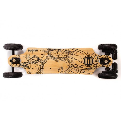 Skate Eléctrico Evolve GT Bamboo Series 2 in 1